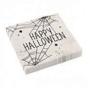 16 Tovaglioli Halloween Ragnatela