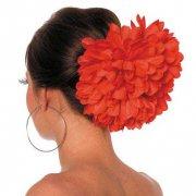 Grande Fiore su Fermaglio Rosso