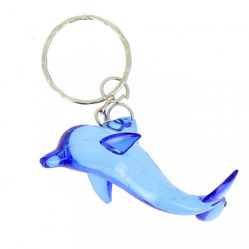 1 Portachiavi a forma di delfino di cristallo