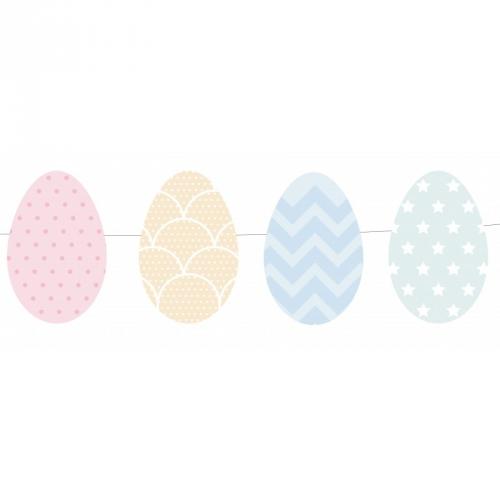 Ghirlanda uova di Pasqua pastello (1,60 m)