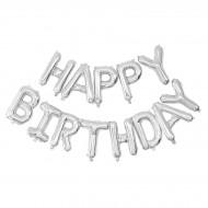 Palloncino Happy Birthday Argento (305 cm)
