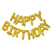 Palloncino Happy Birthday Oro (305 cm)