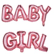 Palloncino Lettere BABY GIRL (118 cm)