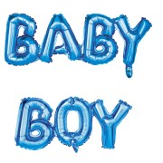 Palloncino Lettere BABY BOY (108 cm)