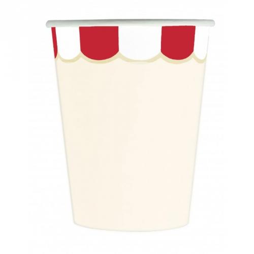 8 Bicchieri con i Festoni Rossi