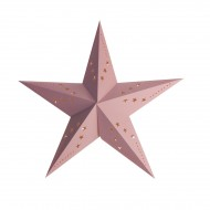 Lanterna a stella rosa pastello - 30 cm
