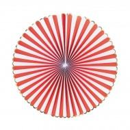Set 3 ventagli rosso, bianco e oro