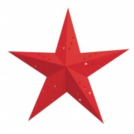 Lanterna a Stella Rossa - 60 cm