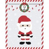 25 Sacchetti di Carta e stickers - Calendario dell'Avvento