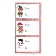 12 Etichette Adesive - Natale