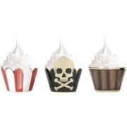 6 Pirottini per Cupcakes - Pirata