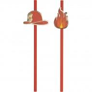 10 Cannucce di Carta Pompieri