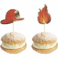 10 Stuzzicadenti decorativi per Cocktail - Pompieri