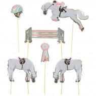 6 Cake Toppers - Incantevole Cavallo