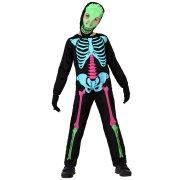 Costume Scheletro Fosforescente 5-6 anni