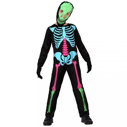 Costume Scheletro Fosforescente