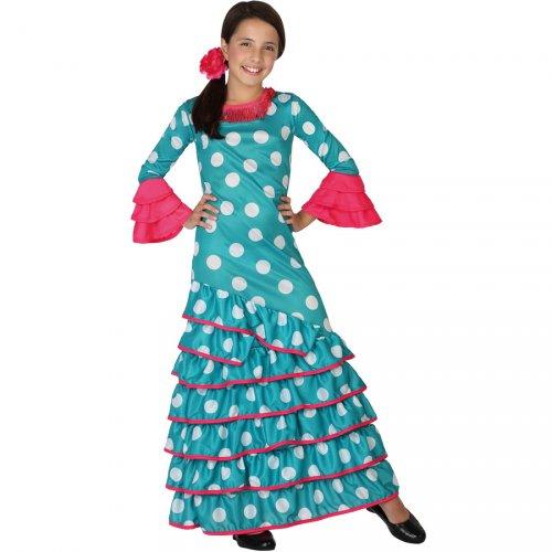 Costume Flamenco Blu e Rosa