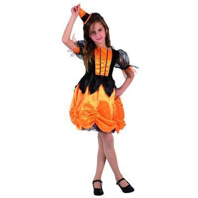 Costume Strega Arancione 5-6 anni