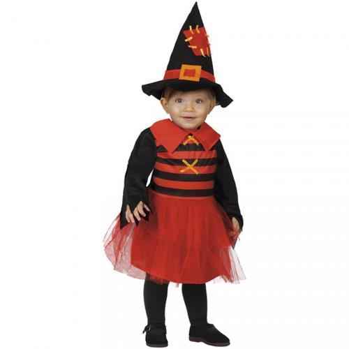 Costume Strega Rosso Neonato
