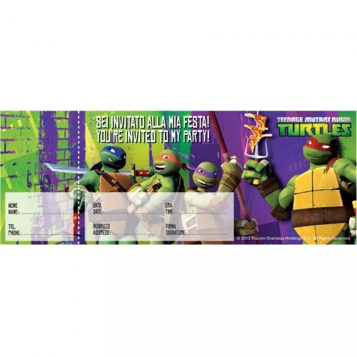Carnet da 20 Inviti Tartaruga Ninja 2