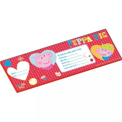 Carnet da 20 Inviti Peppa Pig