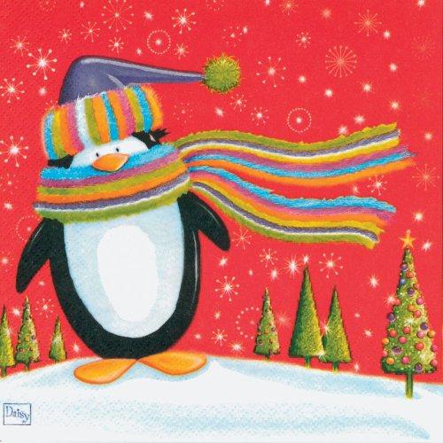 20 Tovaglioli Pinguino e Renna