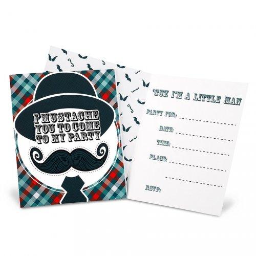 8 Inviti Little Man Moustache