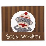 4 Tovagliette con gioco sul retro - Sock Monkey