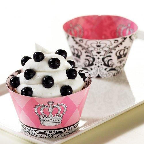 12 pirottini per cupcake reversibili Principessa Eleganza
