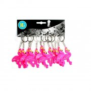 12 Portachiavi Flamingo rosa