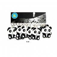 1 portachiavi Panda 2D (4,5 cm) - Gomma