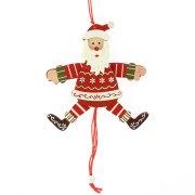 1 Burattino Babbo Natale (14 cm) - Legno