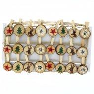Ghirlanda di Tronchetti di Natale per il calendario dell'Avvento fai da te - Legno