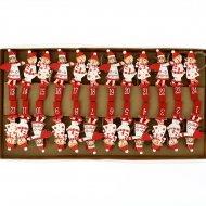 Ghirlanda di Angeli di Natale per il calendario dell'Avvento fai da te - Legno
