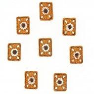 8 Adesivi Mini Biscotti (3 cm) - Resina