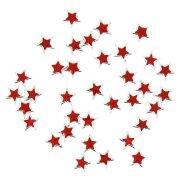 36 Perle a stella rosso/argento (1,5 cm)