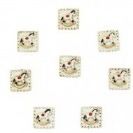 8 Mini Adesivi Cavalli a dondolo (2,5 cm) - Resina