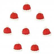 8 Mini Adesivi Tappi di Natale (2,5 cm) - Resina