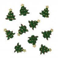 10 Mini Adesivi Abete (2,5 cm) - Resina