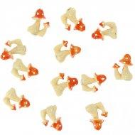 12 Funghetti adesivi (3 cm) - Resina