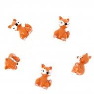 5 Mini volpi da posizionare (2,5 cm) - Resina