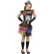 Travestimento Miss Scheletro Rainbow 10-12 anni