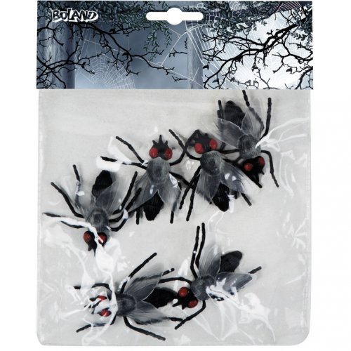 6 grandi mosche (5 cm)