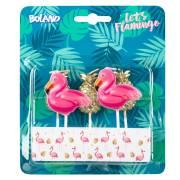 6 Candele Fenicottero rosa/ananas