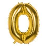 Palloncino gigante oro Numero 0 - 86 cm