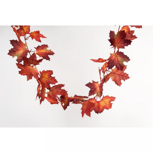 Ghirlanda (150 cm) - Foglie d acero rosso