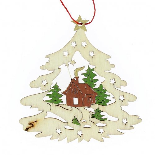 Albero di Natale da Appendere (8,5 cm) - Legno