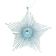 Stella Glitterata Blu da Appendere (15 cm)