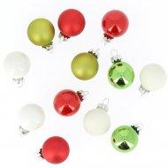12 Piccole palle Felice Natale (3 cm) - Vetro