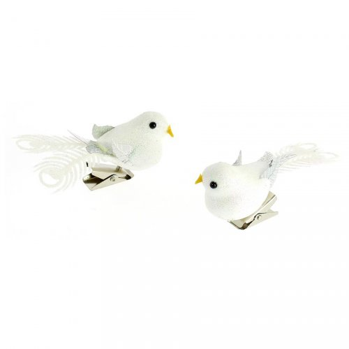 2 Clip Uccellini Glitterati (8 cm)